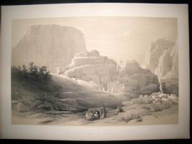 David Roberts Hold Land 1842 LG Folio. The Acropolis, Petra, Jordan Print